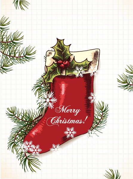 Illustration Vector Art Christmas Vector Illustration  Christmas Sock 2015 02 02 632