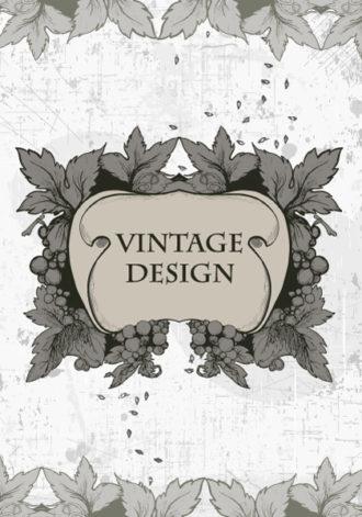 vintage floral frame vector illustration Vector Illustrations old