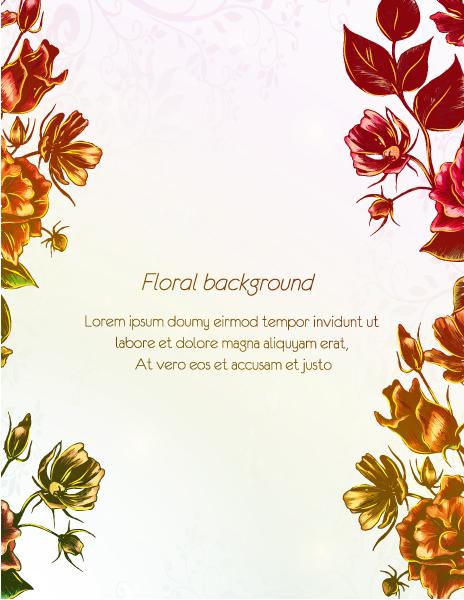 floral vector illustration 1
