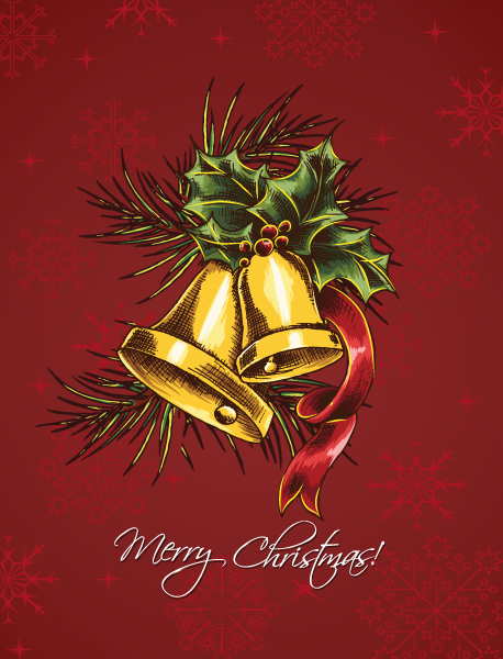 christmas vector illustration  with bells 5