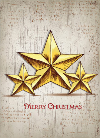 christmas vector illustration  with stars Vector Illustrations vector