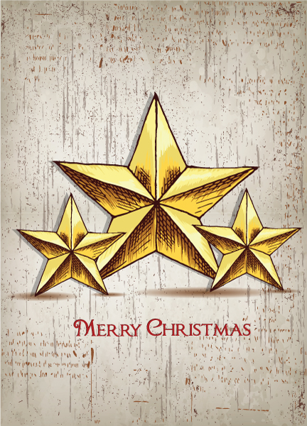 christmas vector illustration  with stars 5