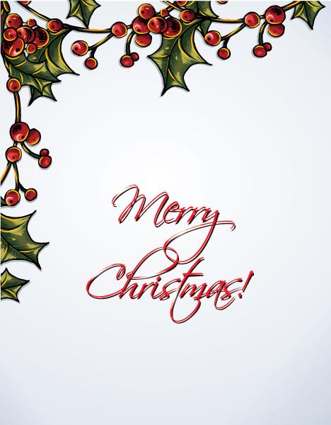 December, Illustration Vector Image Christmas Vector Illustration   Holly Berry 5
