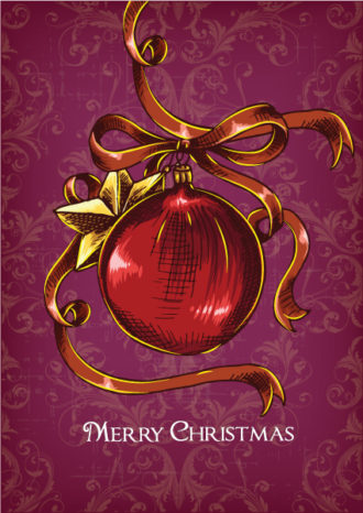 christmas vector illustration  with globe Vector Illustrations vector