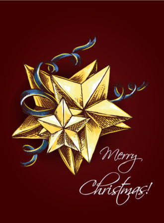 christmas vector illustration  with star Vector Illustrations vector