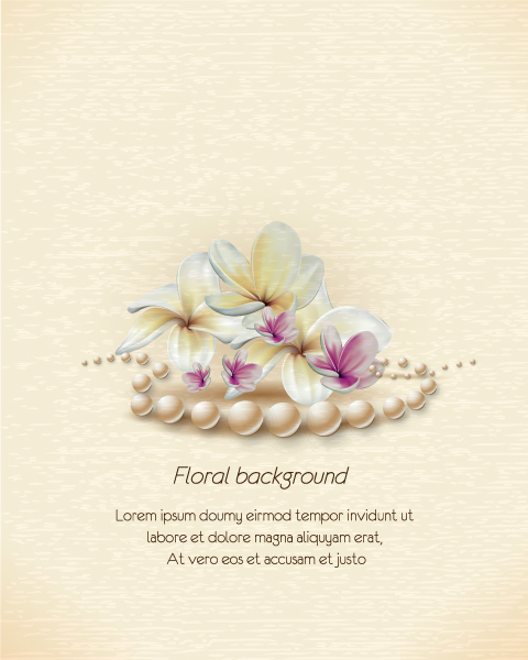 floral vector illustration background Vector Illustrations floral