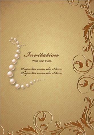 floral vector background illustration Vector Illustrations pearl