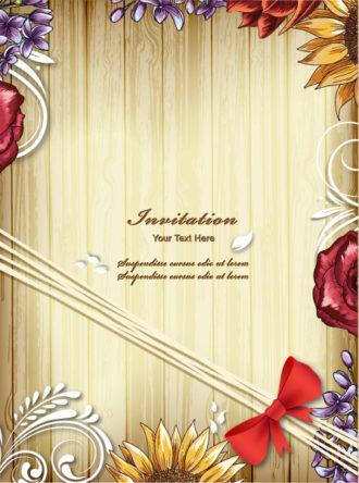 floral vector background illustration Vector Illustrations old