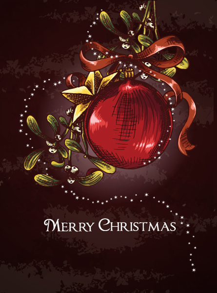 christmas vector illustration with globe 5