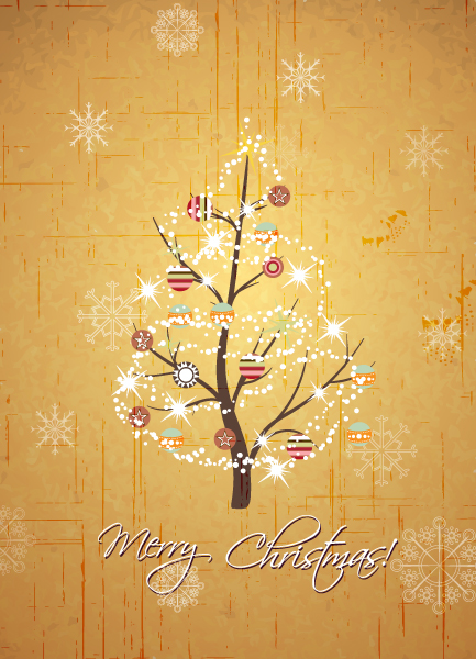 Surprising Christmas Eps Vector: Christmas Eps Vector Illustration With Christmas Tree 5
