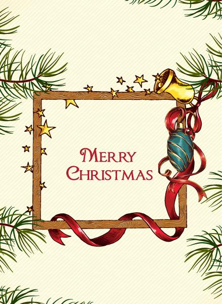Tree, Frame Vector Image Christmas Vector Illustration  Christmas Frame 2015 02 02 897