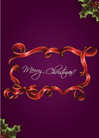 christmas vector illustration with Christmas frame Vector Illustrations vector