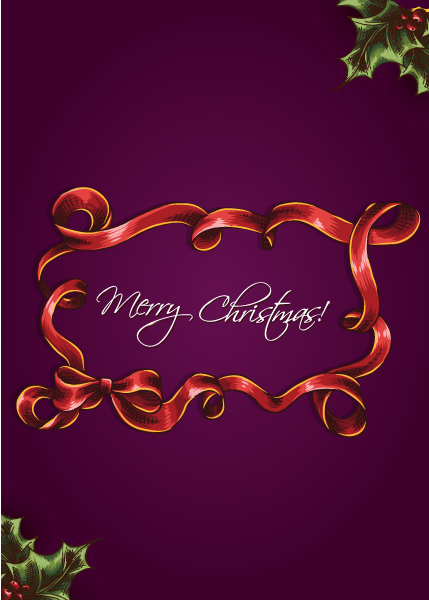 Stunning Bow Vector Art: Christmas Vector Art Illustration With Christmas Frame 2015 02 02 898
