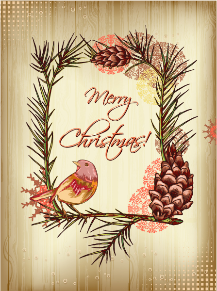 christmas vector illustration with paper 2015 02 02 902
