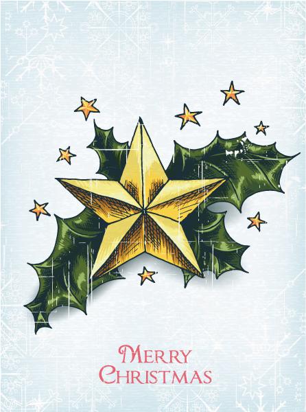 Illustration Vector Artwork Christmas Vector Illustration  Star  Holly Berry 5