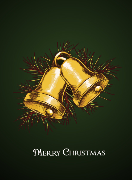 christmas vector illustration with bells Vector Illustrations vector