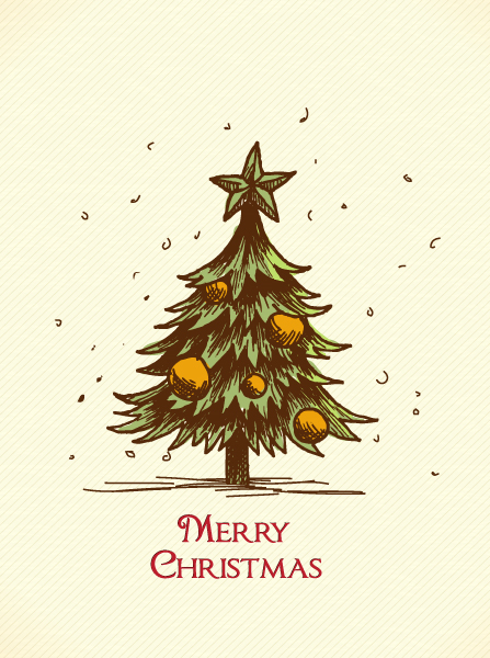 Christmas Vector Graphic Christmas Vector Illustration  Christmas Tree 5