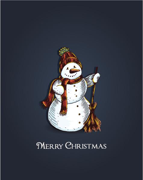 Man, Abstract-2 Vector Design Christmas Vector Illustration  Snow Man 5