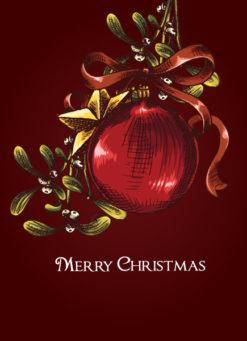 christmas vector illustration with globe Vector Illustrations star
