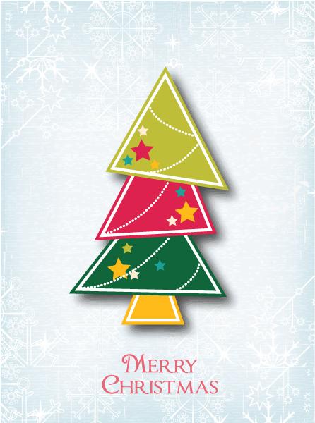 Astounding Christmas Vector Illustration: Christmas Vector Illustration Illustration With Christmas Tree 1