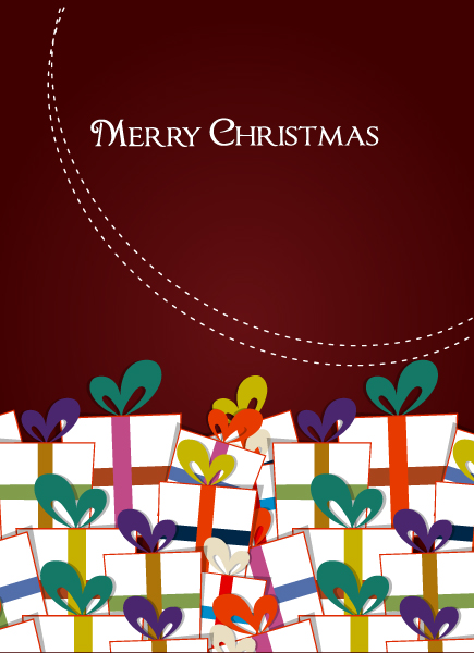 Christmas vector illustration with gift 5