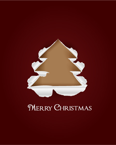 Tree, Greeting, Paper Vector Graphic Christmas Vector Illustration  Christmas Tree  Torn Paper 1