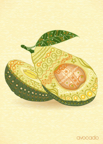 vector vintage background with fruits Vector Illustrations old
