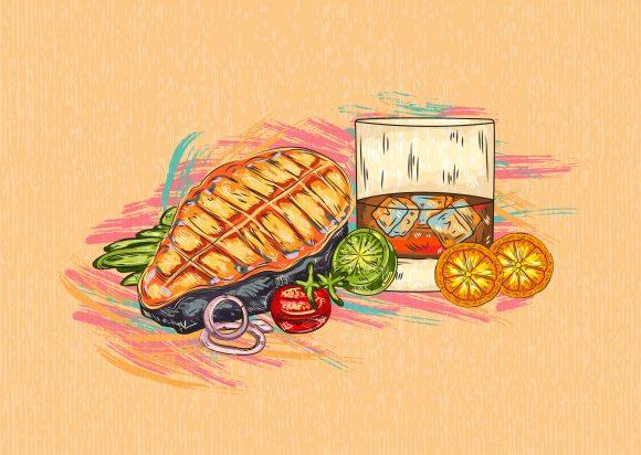 Illustration Vector Illustration: Cooked Fish Vector Illustration  Illustration 1
