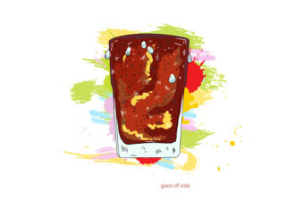 glass of cola vector  illustration Vector Illustrations glass