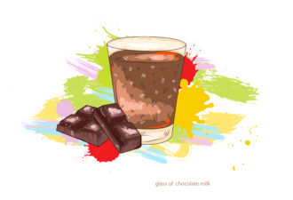 glass of chocolate milk vector  illustration Vector Illustrations glass