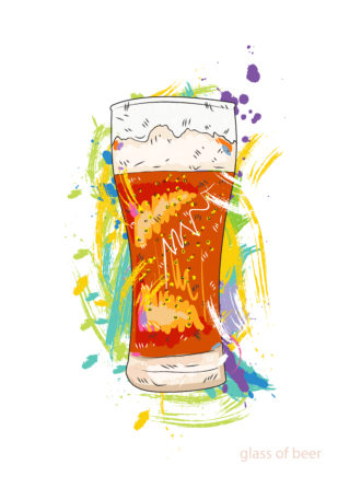 glass of beer vector illustration Vector Illustrations glass