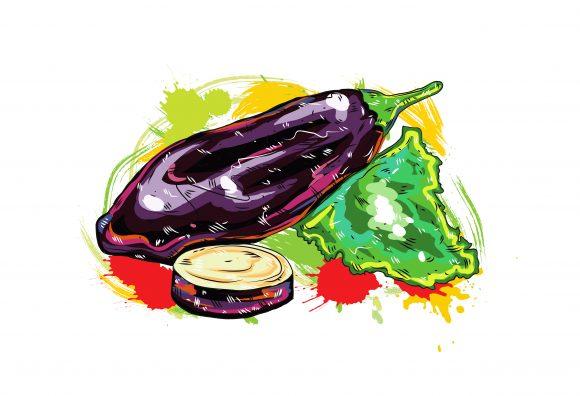 vegetables with grunge vector  illustration 2015 03 03 112