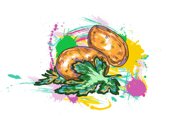 vegetables with grunge vector  illustration 2015 03 03 116