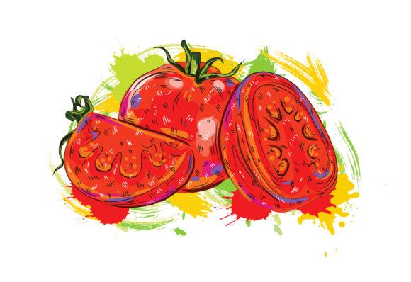 Surprising Illustration Vector Graphic: Vegetables With Grunge Vector Graphic  Illustration 5