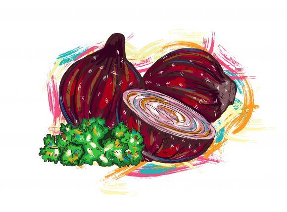 Rust Vector Vegetables  Grunge Vector  Illustration 1