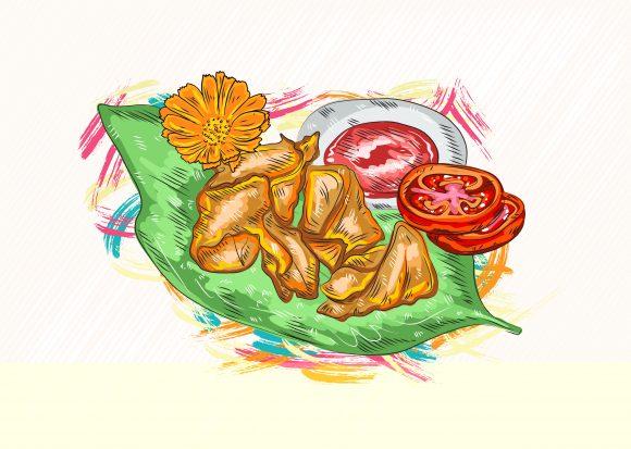 Illustration Vector Artwork Cooked Food Vector  Illustration 1