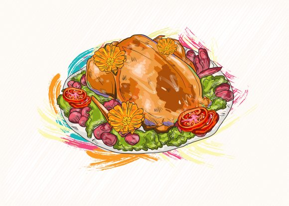 cooked chicken vector  illustration 2015 03 03 141 scaled
