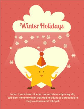 Christmas Vector illustration with  christmas star and cloud Vector Illustrations star