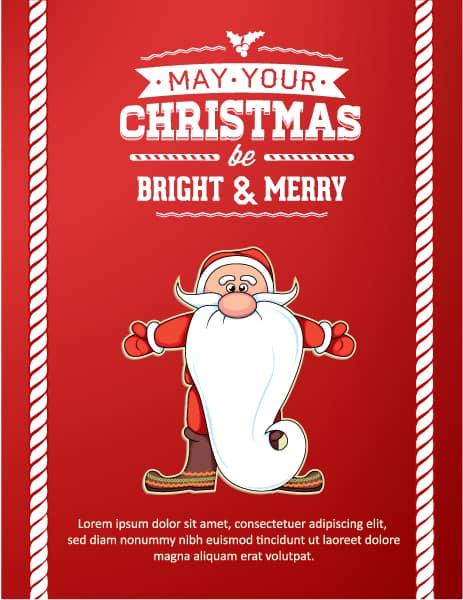 Christmas Vector illustration with santa 2015 03 03 160
