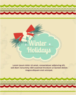 Christmas Vector illustration christmas frame, ribbon, Vector Illustrations star