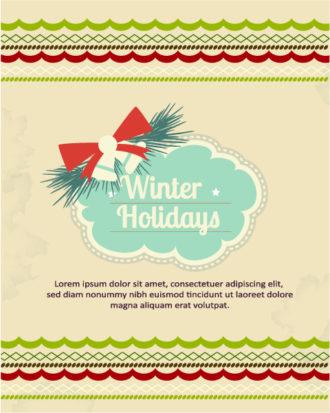 Christmas Vector illustration christmas frame, ribbon, Vector Illustrations star