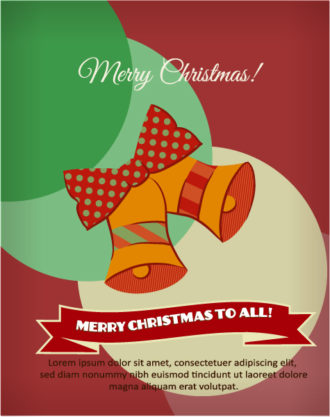 Christmas Vector illustration with bells and ribbon Vector Illustrations vector