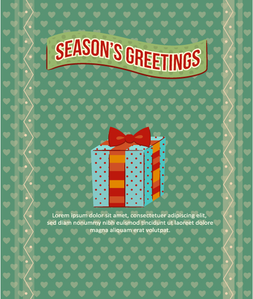 Christmas Vector illustration with ribbon and snowflake Vector Illustrations vector