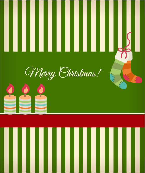 Christmas Vector illustration with socks ans christmas candles Vector Illustrations vector