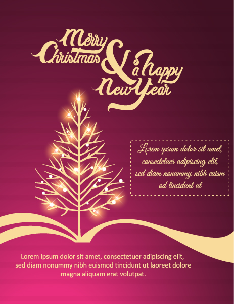Holiday Vector Design: Happy New Year  Vector Design Illustration With Christmas Tree 2015 03 03 221