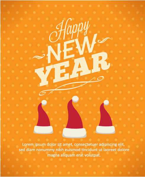 Illustration, Vector, Poster Vector Design Happy New Year  Vector Illustration  Santa Hat 5