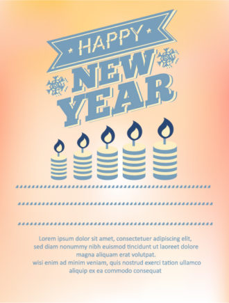 Happy New Year  Vector illustration with candles Vector Illustrations old