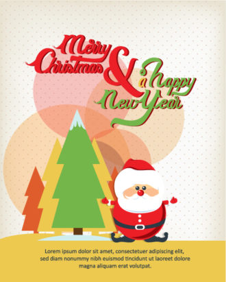 Happy New Year  Vector illustration with  santa Vector Illustrations old