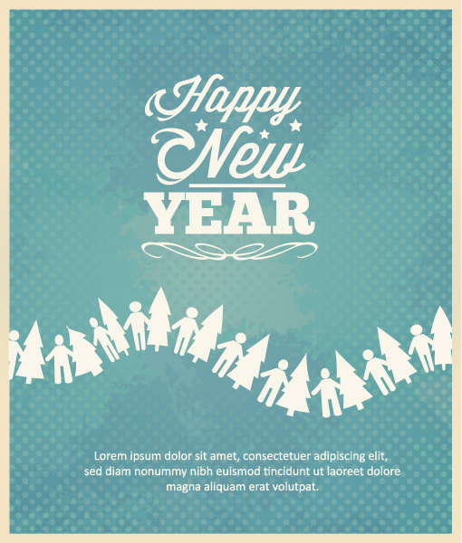 Download Year Vector Art: Happy New Year  Vector Art Illustration 2015 03 03 275