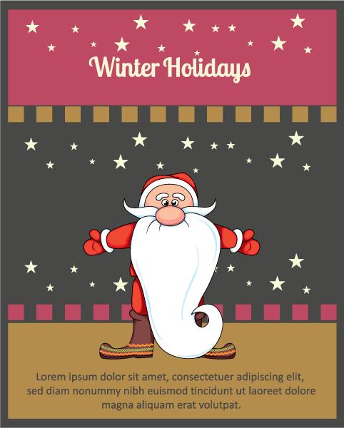 Cover Vector Background Christmas Vector Illustration  Santa 2015 03 03 297